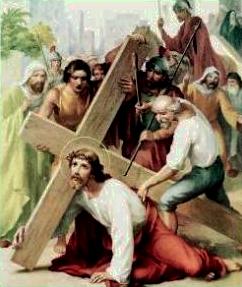 III Stazione: Gesù cade per la prima volta