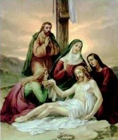 XIII Stazione: Gesù deposto dalla croce
