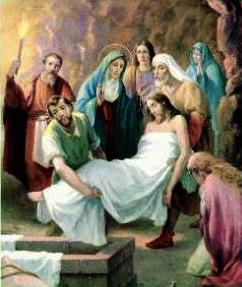 XIV Stazione: Gesù deposto nel sepolcro